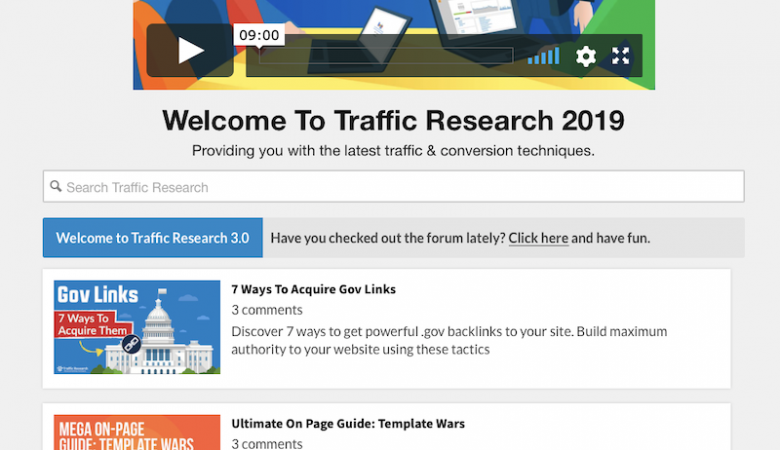 homepage of Traffic Research by Eric Lancheres
